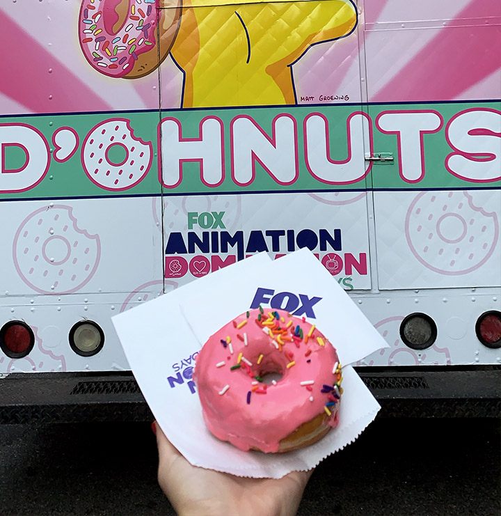 Fox donut truck promotion for Advertising week NYC 2019