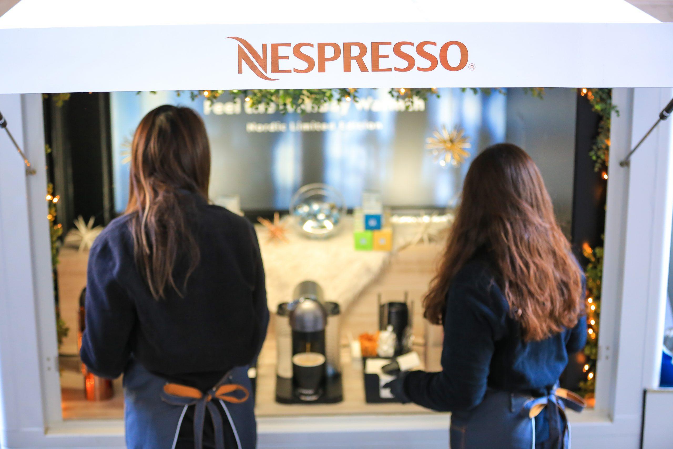 Holiday Marketing ideas Nespresso mobile showroom