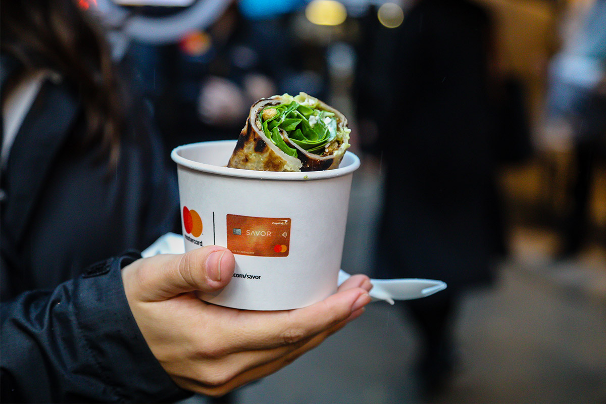 Master card experiential marketing food example