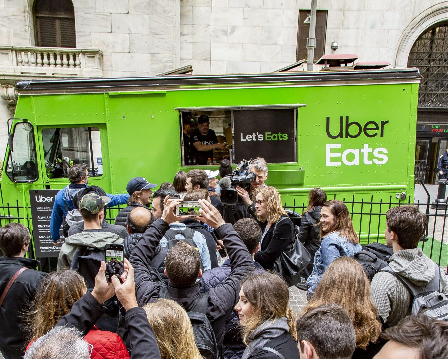 Uber Food Truck Promotion for their IPO