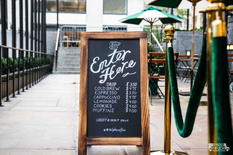 Branded coffee pop-up