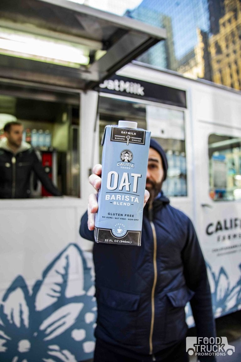 Califa oat milk nyc brand promotion
