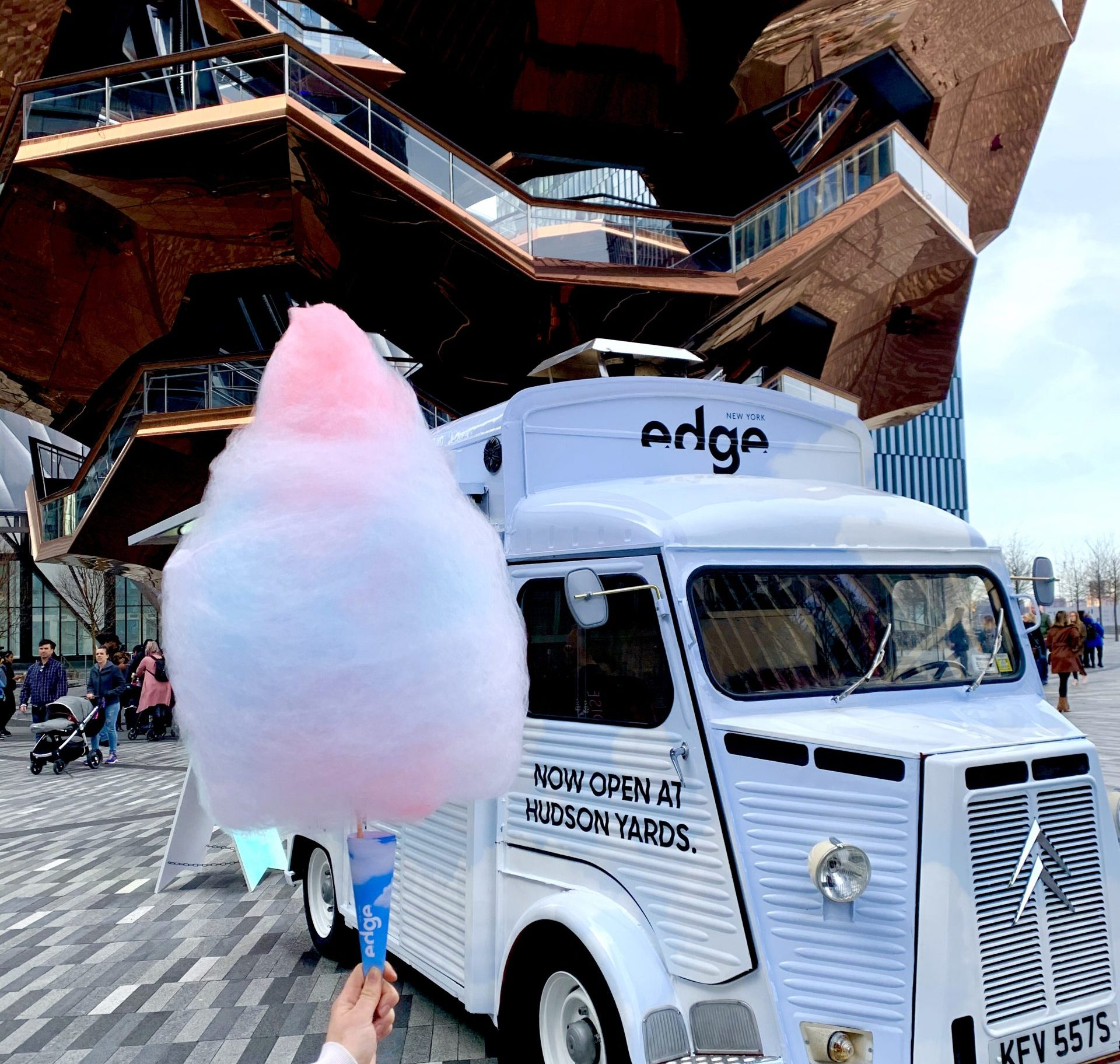 Edge Cotton Candy Custom Food Marketing Example