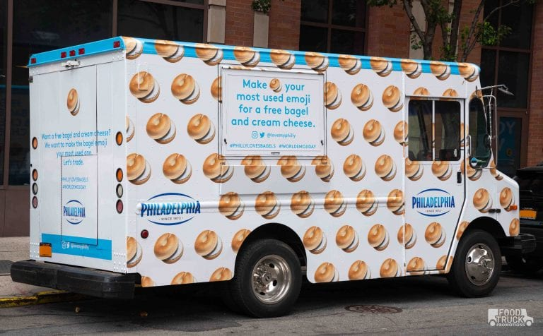 philadelphia cream cheese food truck promotion