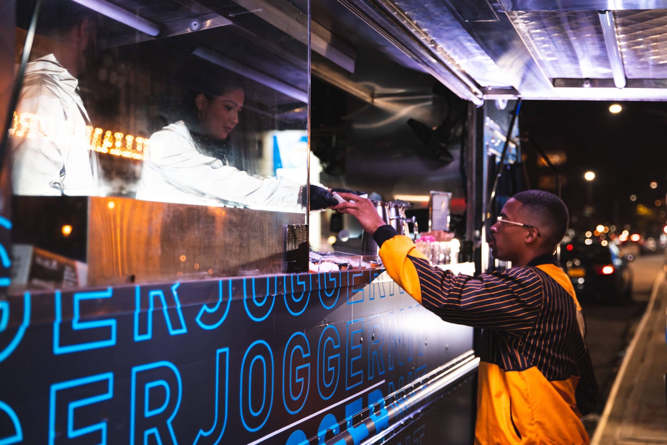 Adidas branded food truck