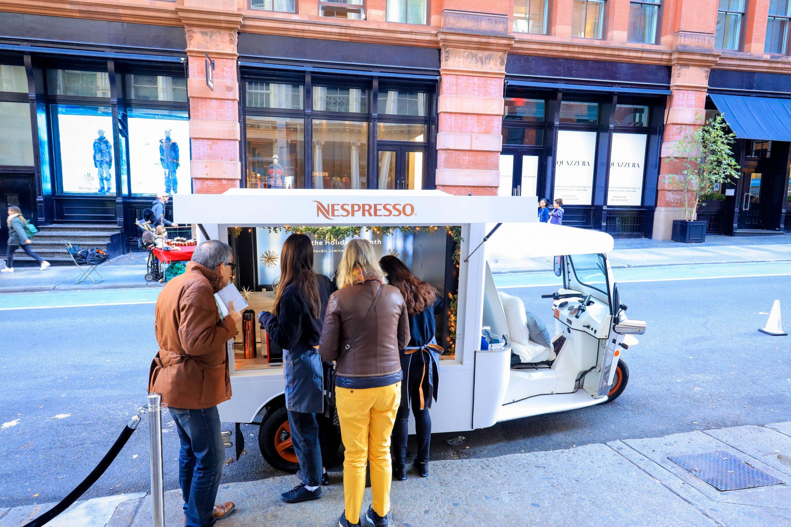 Mobile showroom Nespresso