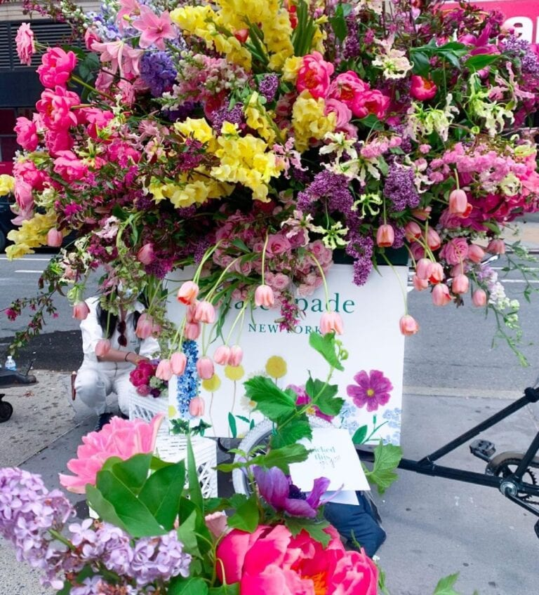 Kate Spade partnered with local florists for Mother's Day