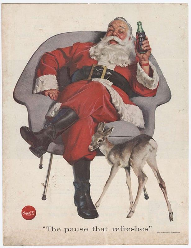 Coca Cola Nostalgia Marketing Advertisement Santa Claus
