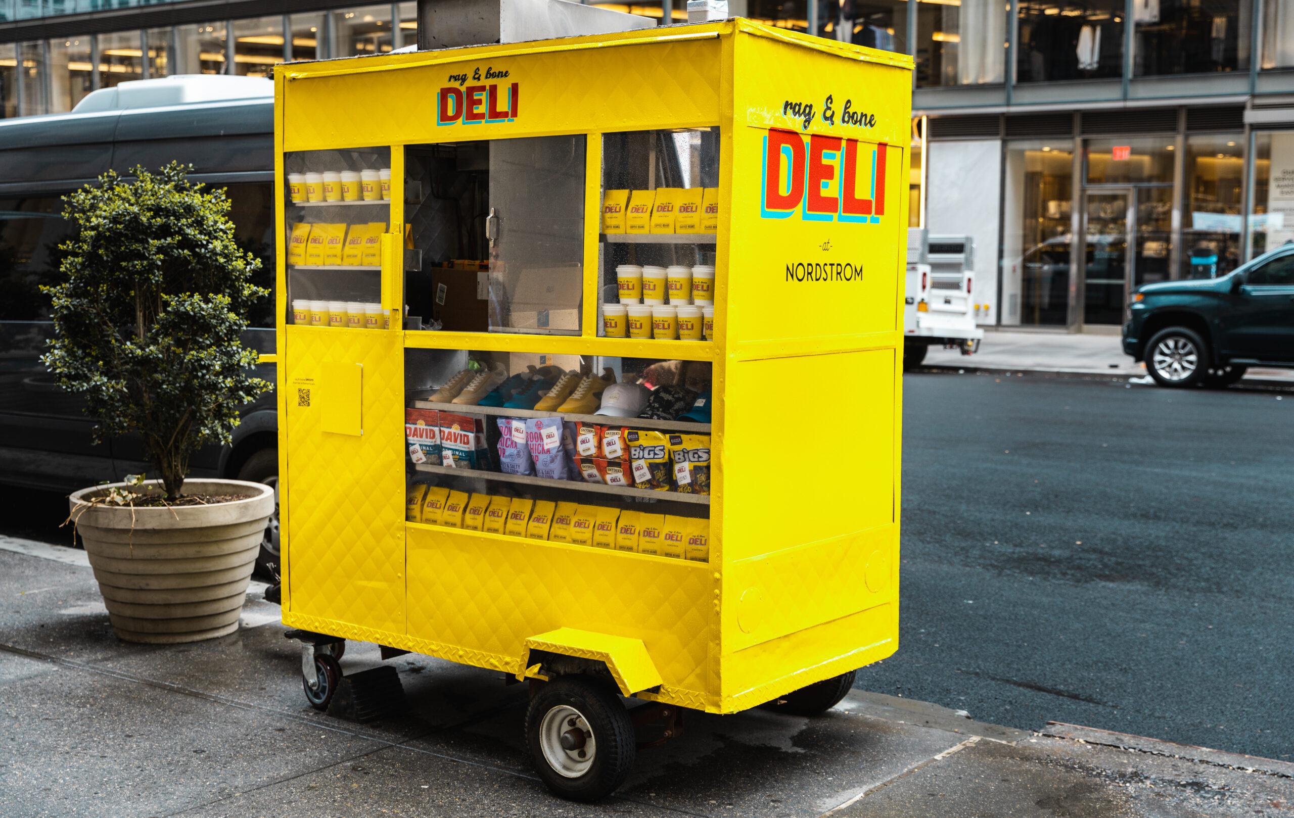 Rag & Bone Deli Nordstrom Pop Up Coffee Cart Experiential Marketing