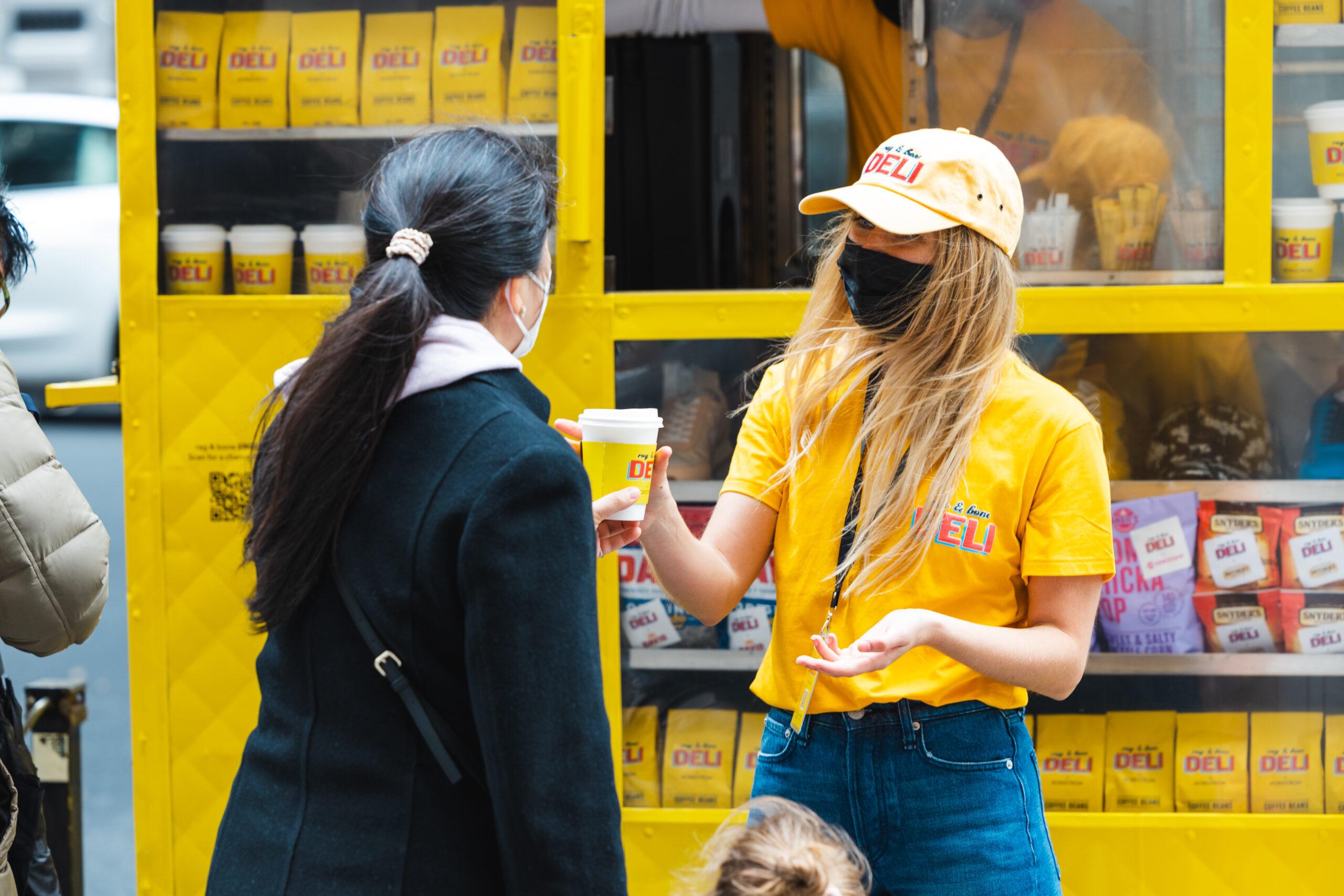 Rag & Bone Coffee Cart Pop Up NYC